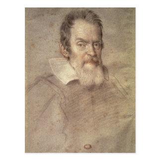 Retrato del astrónomo de Galileo Galilei Postal