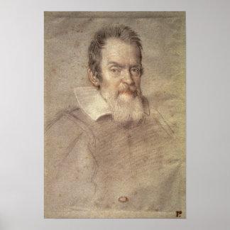 Retrato del astrónomo de Galileo Galilei Póster