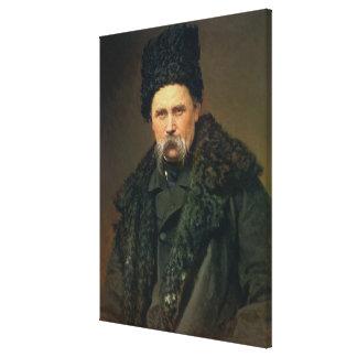 Retrato del autor ucraniano impresión en lona estirada