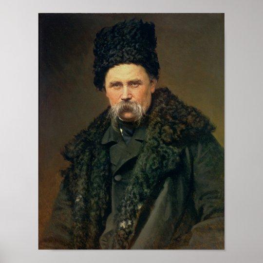Retrato del autor ucraniano póster