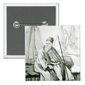 Retrato del bajá de Ali de Yannina Pin Cuadrado