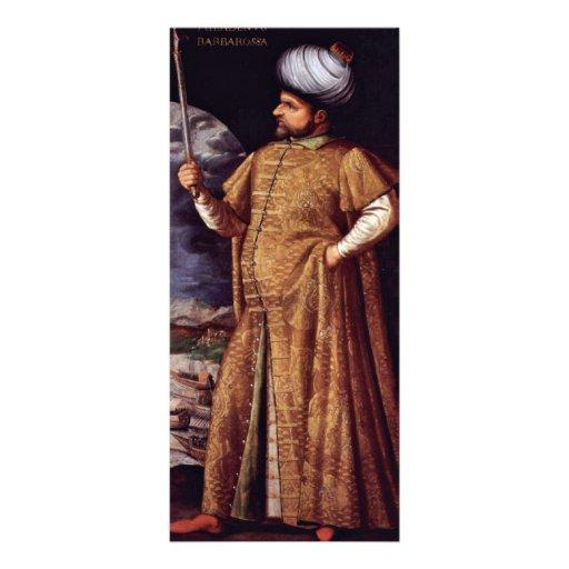 Retrato del bajá de Chaireddin de Italienischer Me Lona Personalizada