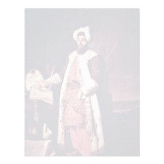 Retrato del bajá de Sa'Id de Aved Jacques-André-Jo Plantilla De Membrete