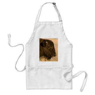 Retrato del bebé del bisonte delantal