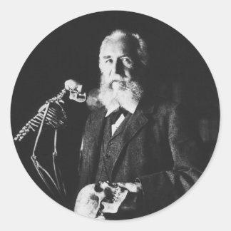 Retrato del biólogo alemán famoso Ernst Haeckel Pegatinas