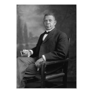 """Retrato del Booker T. Washington por Harris y Invitación 5"""" X 7"""""""
