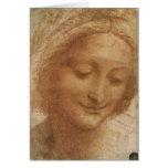 Retrato del bosquejo Santa Ana de Leonardo da Vinc Felicitaciones
