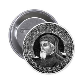 Retrato del botón de Geoffrey Chaucer Pins