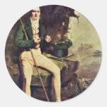 Retrato del Bryce Mcmurdo de sir Henry de Raeburn Etiquetas Redondas