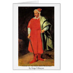 Retrato del bufón Barbarossa de la corte Felicitaciones