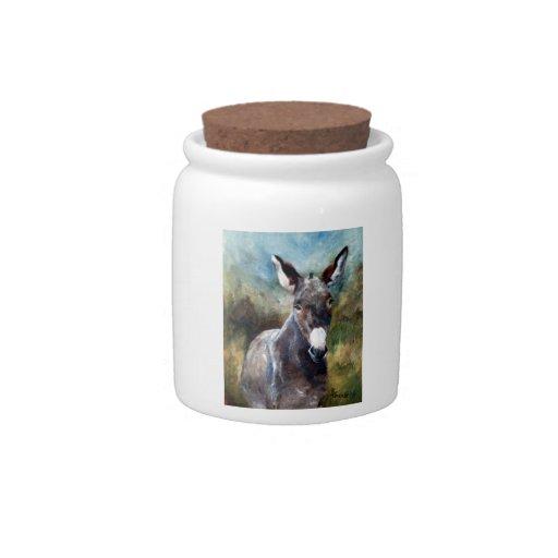 Retrato del burro plato para caramelo