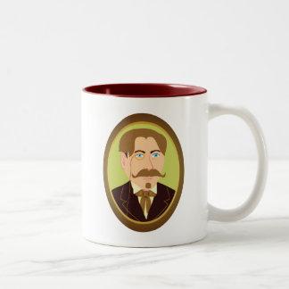 Retrato del caballero del Victorian Taza De Café