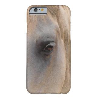 Retrato del caballo blanco funda para iPhone 6 barely there