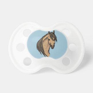 Retrato del caballo chupete de bebé