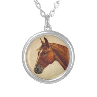 Retrato del caballo pendientes personalizados