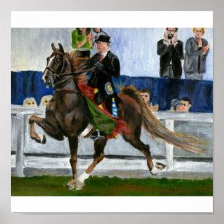 Retrato del caballo de Saddlebred del americano Póster