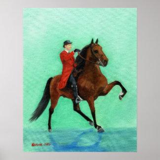 Retrato del caballo de Tennessee que camina Póster