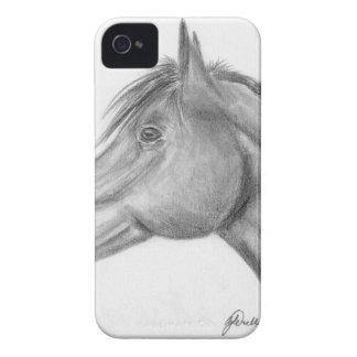 Retrato del caballo Case-Mate iPhone 4 coberturas