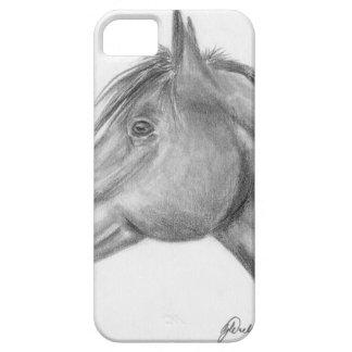 Retrato del caballo funda para iPhone 5 barely there