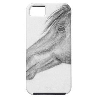Retrato del caballo iPhone 5 Case-Mate fundas