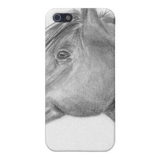 Retrato del caballo iPhone 5 coberturas