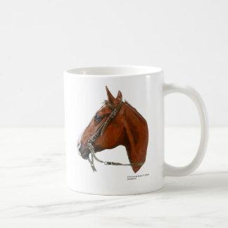 Retrato del caballo tazas