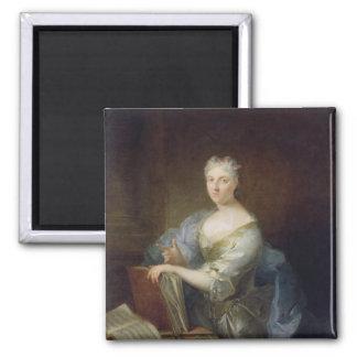Retrato del cantante Marie-Louise Desmatins Imán Cuadrado