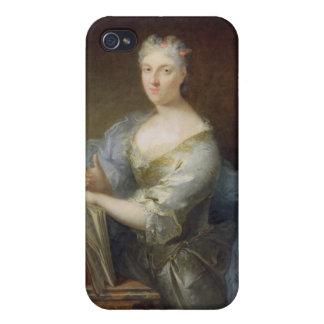 Retrato del cantante Marie-Louise Desmatins iPhone 4/4S Carcasa