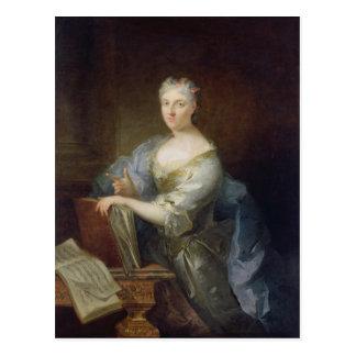 Retrato del cantante Marie-Louise Desmatins Postales