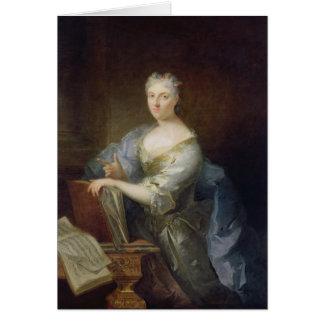 Retrato del cantante Marie-Louise Desmatins Tarjeta De Felicitación