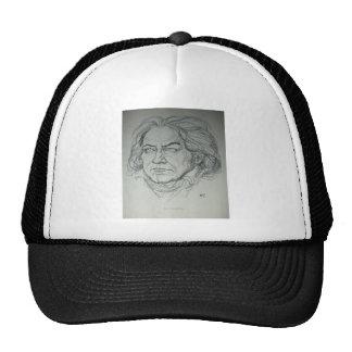 Retrato del carbón de leña de Ludwig van Beethoven Gorros