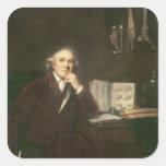 Retrato del cazador de Juan después de sir Joshua Pegatina Cuadrada