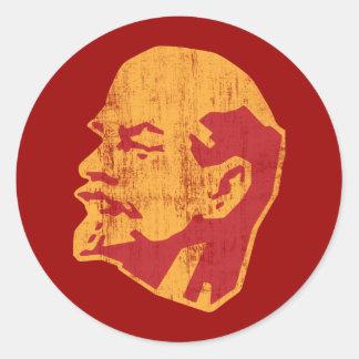 retrato del cccp de Vladimir Lenin Pegatina Redonda