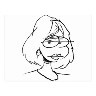 retrato del chica del davholle postal