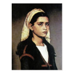Retrato del chica gitano postal