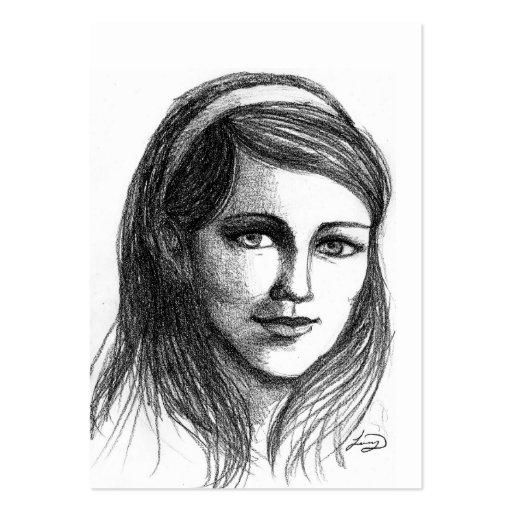 Retrato del chica tarjetas personales