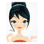 retrato del chica tarjetas publicitarias