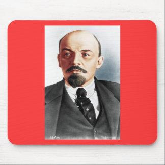 Retrato del color de Lenin Alfombrilla De Raton