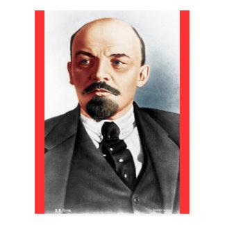 Retrato del color de Lenin Postal