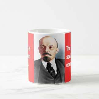 Retrato del color de Lenin Taza