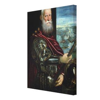 Retrato del comandante en jefe a vernier impresión en tela