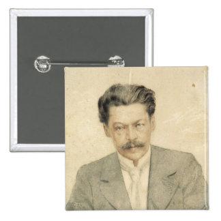 Retrato del compositor Antón Arensky Pin Cuadrado