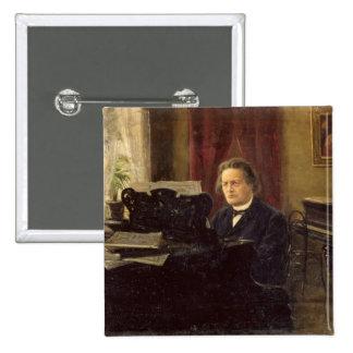 Retrato del compositor Antón Rubinstein Pin