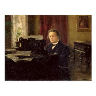 Retrato del compositor Antón Rubinstein Postal