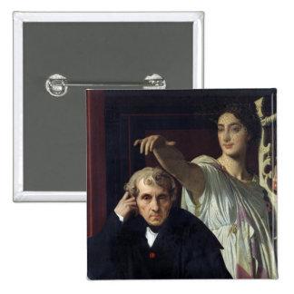 Retrato del compositor italiano Cherubini Pin Cuadrado