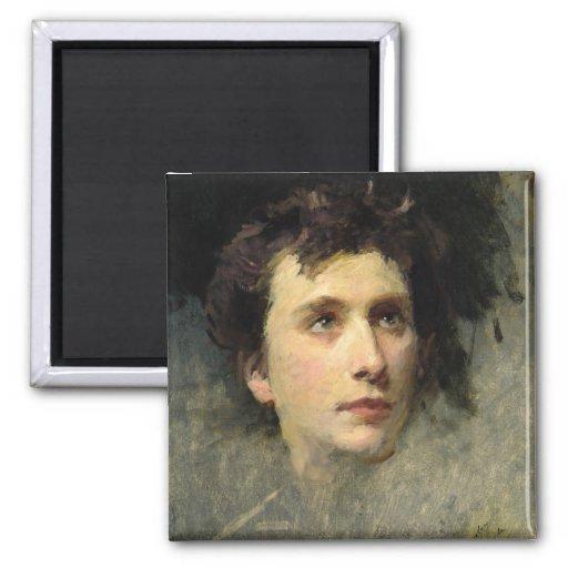 Retrato del compositor Pyotr Ilyich Imán Para Frigorifico