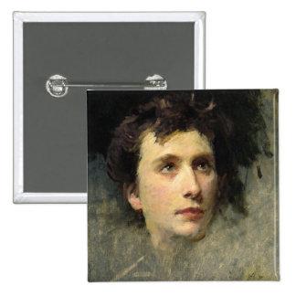 Retrato del compositor Pyotr Ilyich Pin Cuadrado
