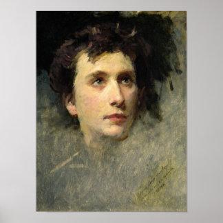 Retrato del compositor Pyotr Ilyich Póster