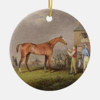 """Retrato del """"concurso"""", la propiedad de señor adorno navideño redondo de cerámica"""