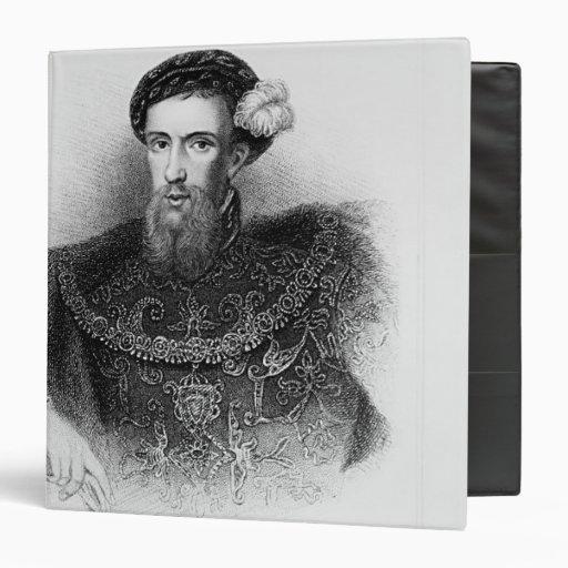 """Retrato del conde de Henry Howard de Surrey Carpeta 1 1/2"""""""